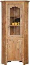 image of Rustic Lancaster Corner Cupboard with Glass Door